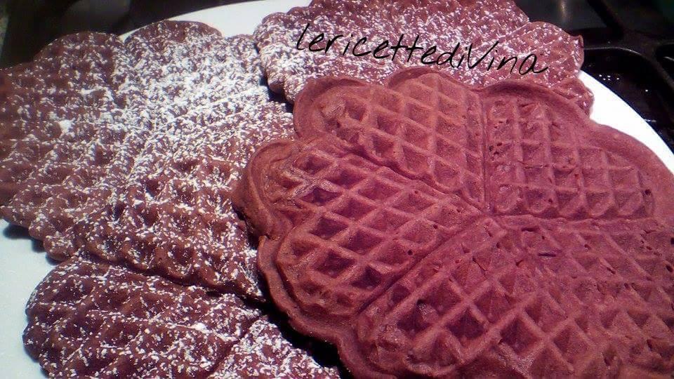 I miei waffle bianco e neri