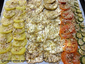Verdure miste gratinate cucina vista mare