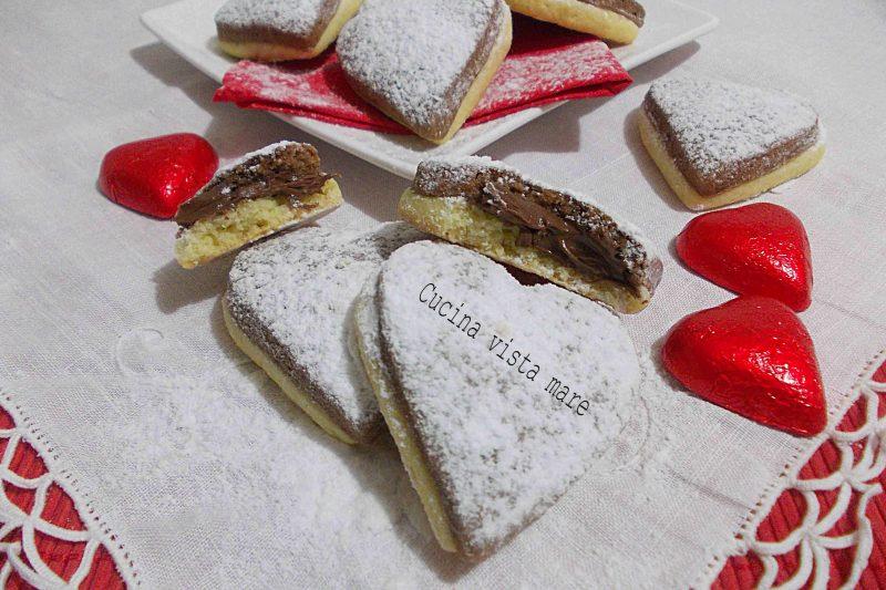 Biscotti bicolore con la nutella