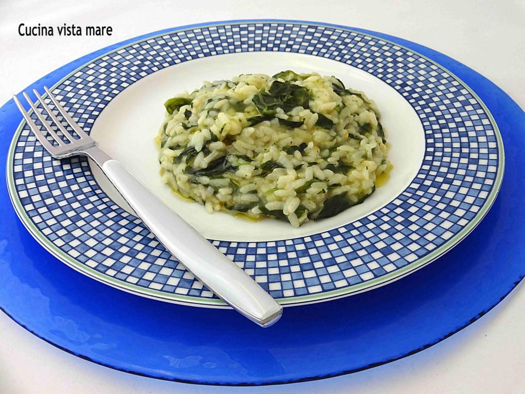 Risotto con gli spinaci Cucina vista mare