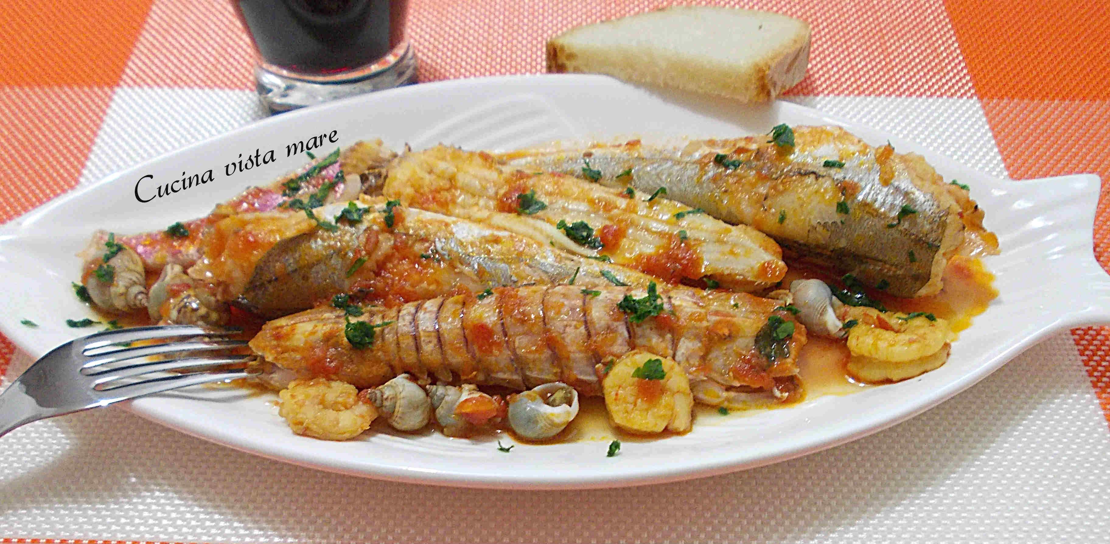 Brodetto Di Pesce Cucina Vista Mare #B44917 3648 1787 Foto Di Mattonelle Per Cucina
