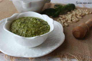 Pesto al basilico Cucina vista mare