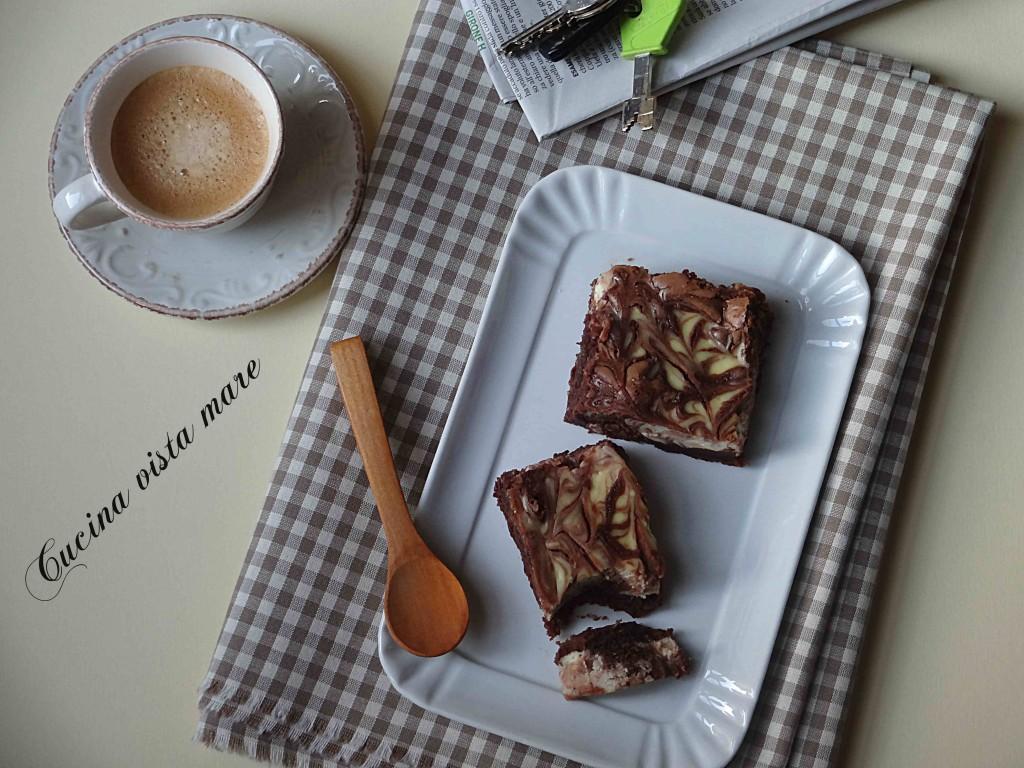 Brownie cheesecake Cucina vista mare
