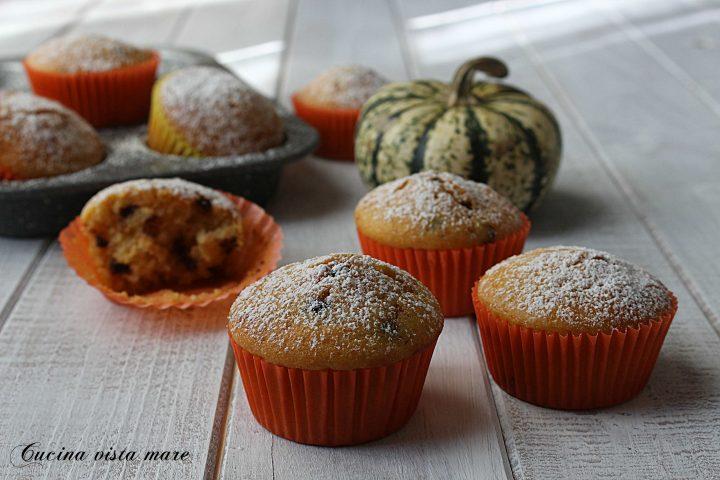 Muffin zucca e cioccolato Cucina vista mare