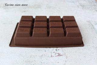 Torta barretta di cioccolato Cucina vista mare
