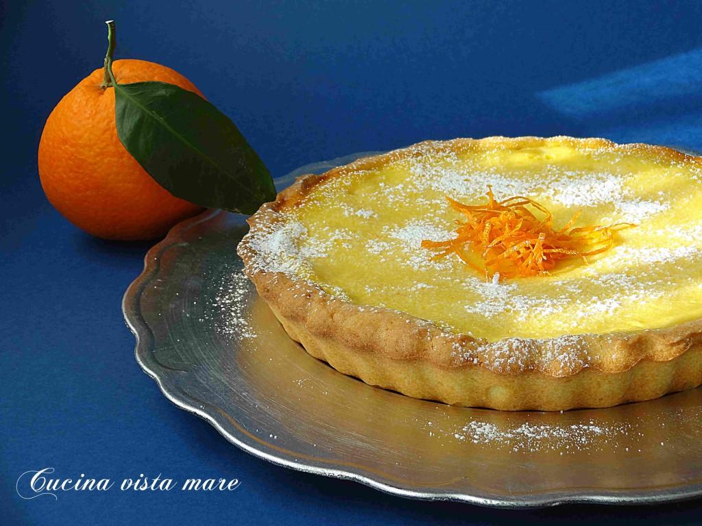 Crostata alla crema di yogurt e arancia Cucina vista mare