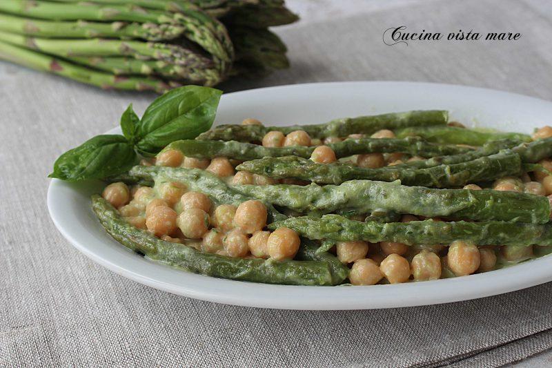 Ceci in guazzetto di asparagi