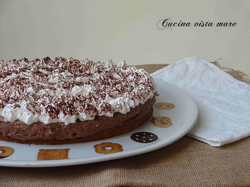 Crostata fredda al cioccolato Cucina vista mare