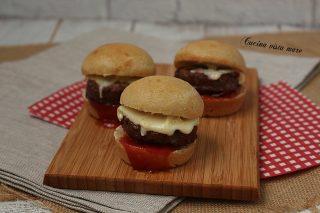 Mini hamburger farciti Cucina vista mare