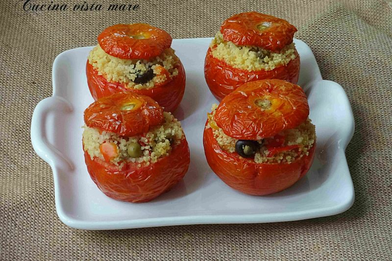 Pomodori ripieni nel fornetto Versilia
