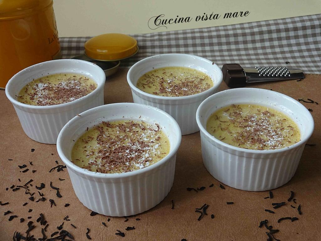 Crema aromatizzata al the Cucina vista mare