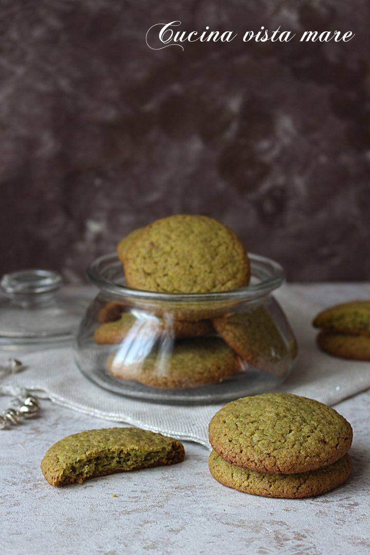 Biscotti di frolla al pistacchio Cucina vista mare