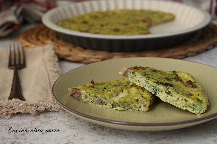 frittata di broccoli e salsiccia