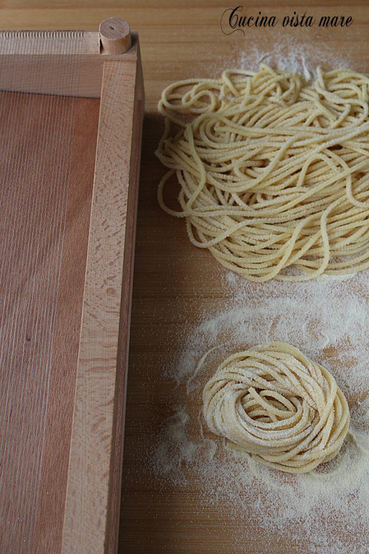 Spaghetti alla chitarra Cucina vista mare