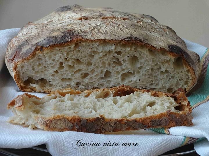 Pane senza impasto Cucina vista mare