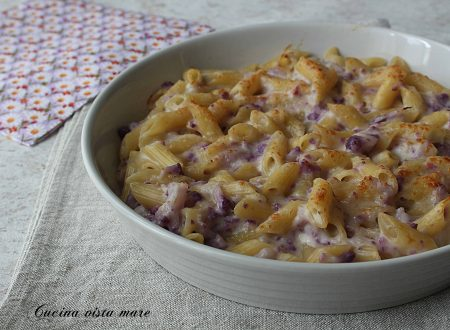 Pasta al forno con cavolfiore viola