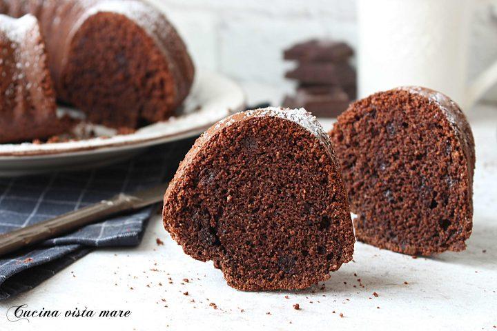 Ciambella cocco e cioccolato Cucina vista mare