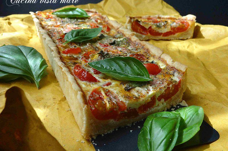 Quiche di pomodorini al basilico