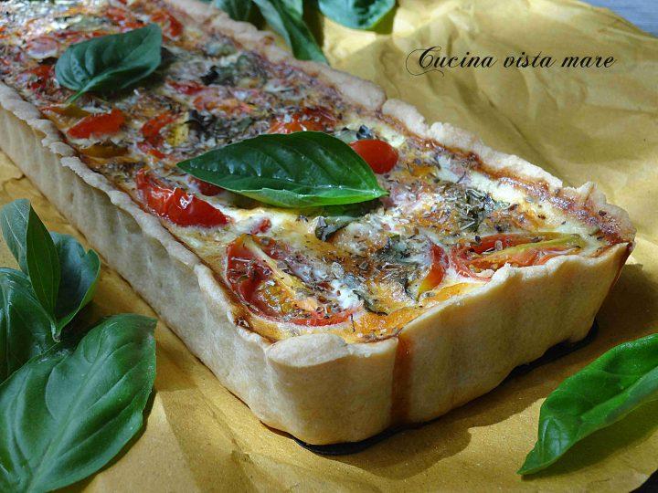 Quiche di pomodorini al basilico Cucina vista mare