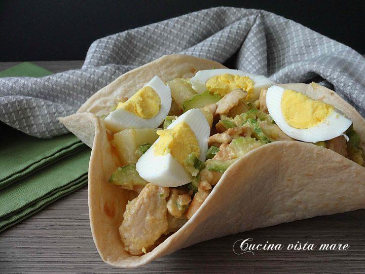 Insalata di pollo patate e zucchine