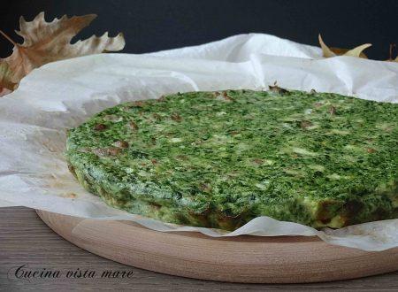 Frittata con salsiccia e spinaci