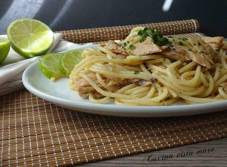 Spaghetti con tonno e lime
