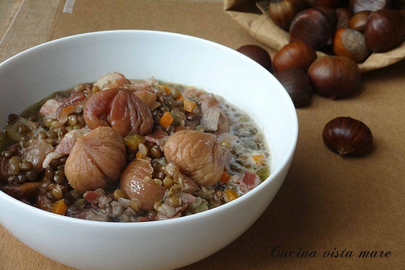 Minestra di lenticchie e castagne