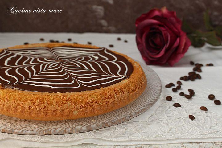 Crostata morbida con crema al caffè Cucina vista mare