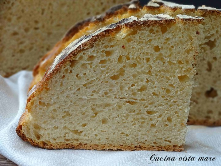 Pane semi integrale senza impasto Cucina vista mare