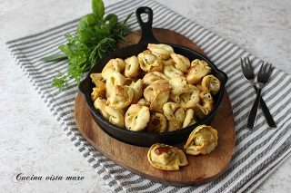 Tortellini fritti Cucina vista mare