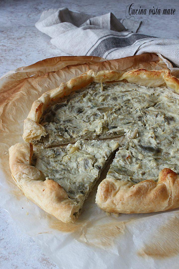 Torta salata carciofi e ricotta Cucina vista mare