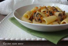 Pasta con funghi e carote