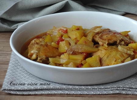 Stufato di pollo allo zafferano nella slow cooker