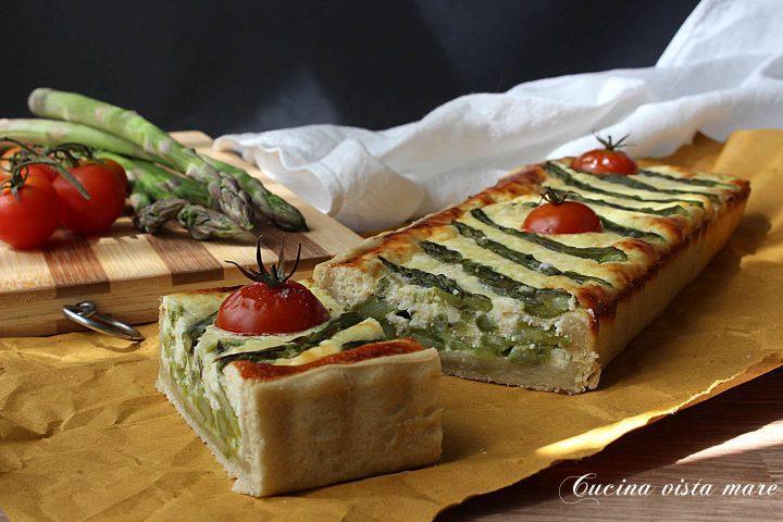 Quiche di asparagi e pomodorini Cucina vista mare
