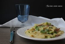 Pasta cremosa zucchine e speck