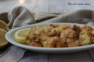 Frittura di pesce Cucina vista mare