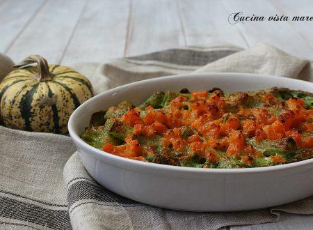 Pasta al forno con zucca e spinaci