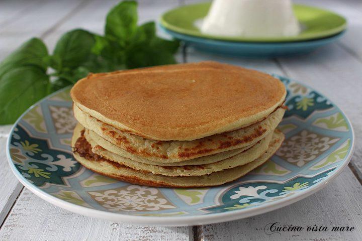 Pancakes salati di patate Cucina vista mare