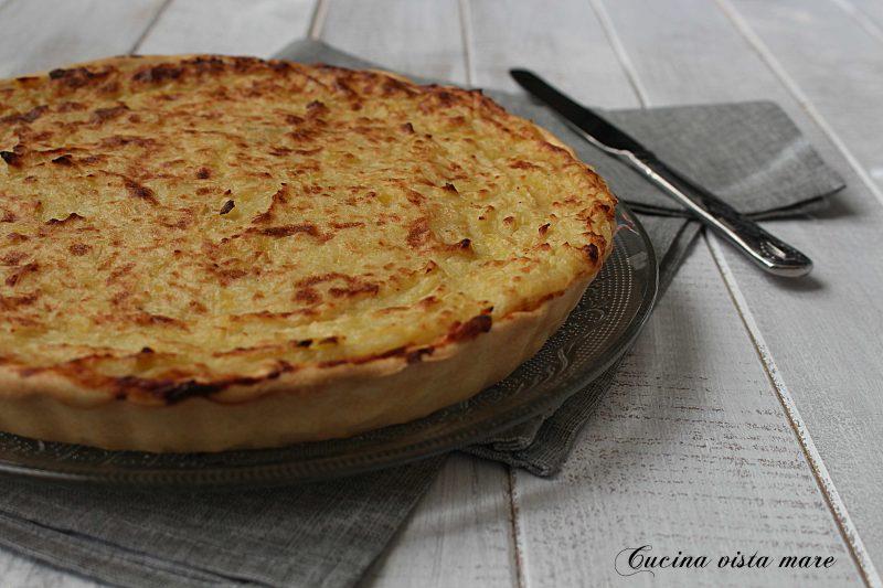 Torta patate e porri