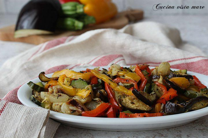 Verdure al forno Cucina vista mare