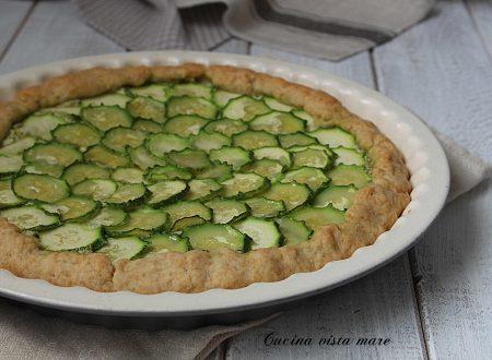 Torta salata pesto e zucchine