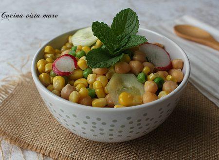 Insalata di legumi e ravanelli