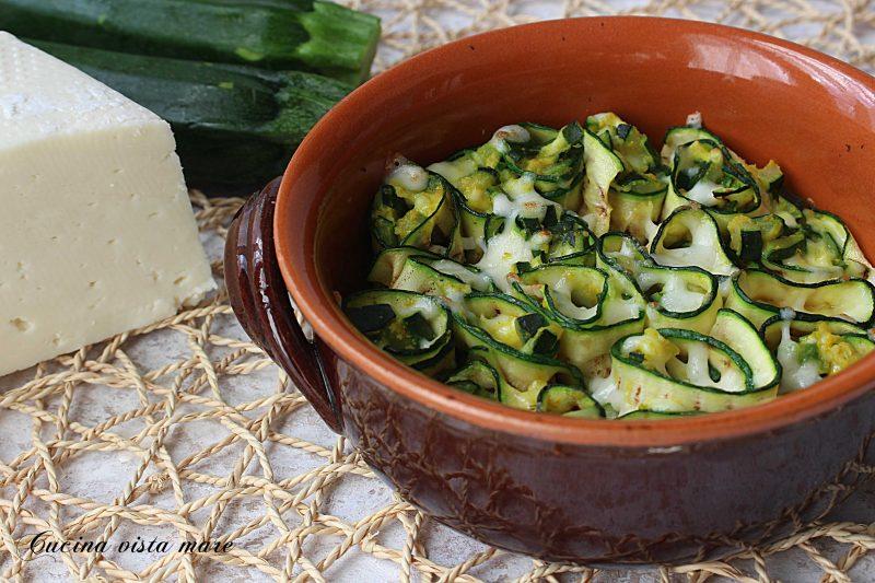 Involtini di zucchine e caciotta