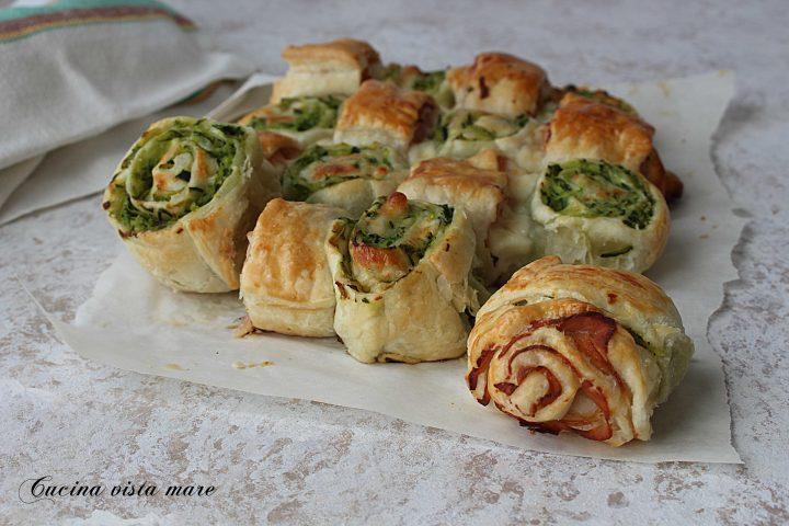 Torta salata prosciutto cotto e zucchine Cucina vista mare