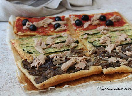 Pizza di sfoglia tre gusti