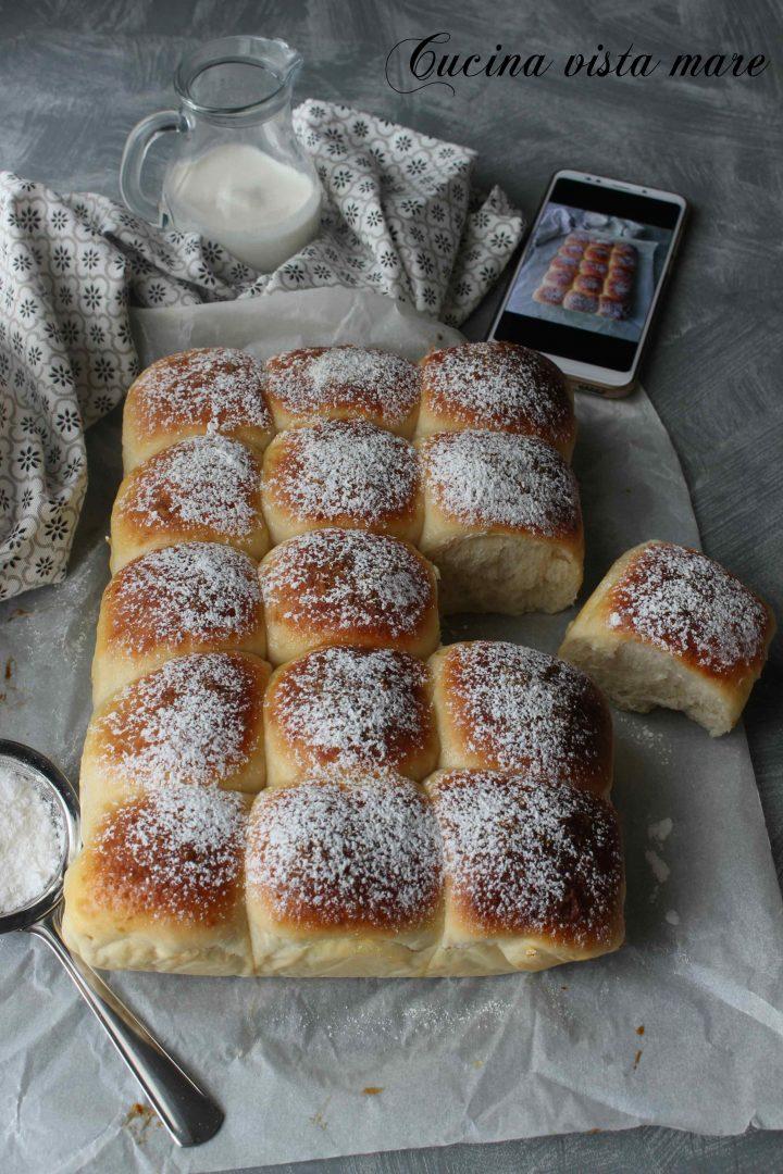 Pan di panna Cucina vista mare
