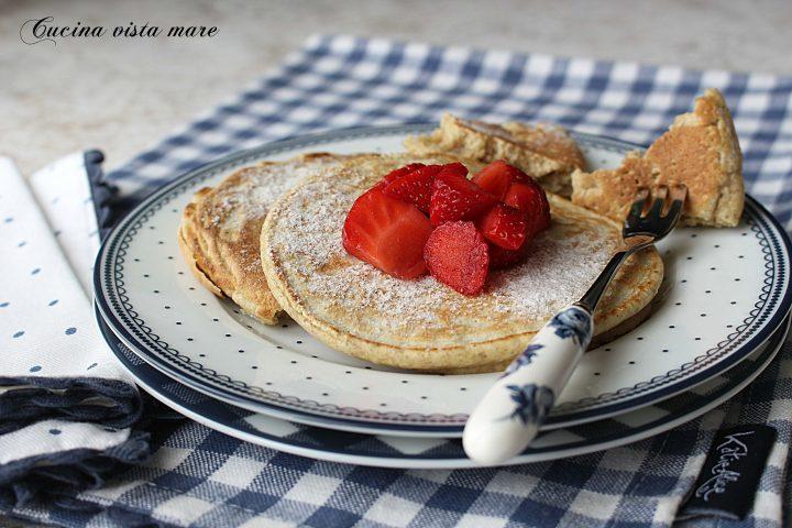 Pancakes integrali senza zucchero Cucina vista mare