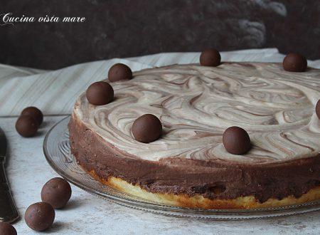 Torta fredda vaniglia e cioccolato