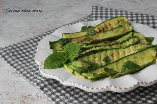 zucchine grigliate menta e limone