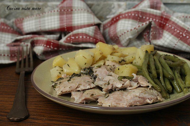 Pollo patate e fagiolini nella slow cooker